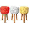 macrame rope stool