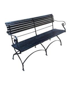 iron wood garden arm chair