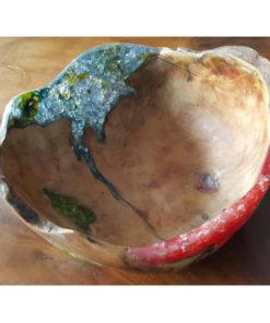 Resin wood bowl
