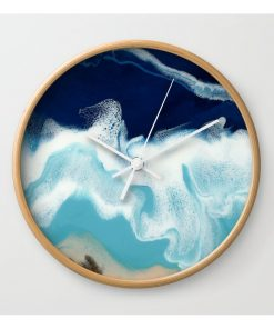 Wooden resin wall clock