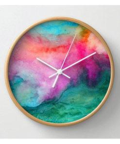 Resin wood wall clock