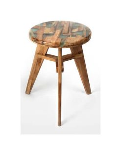Resin wood stool