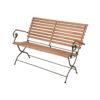 iron wood garden arm bench