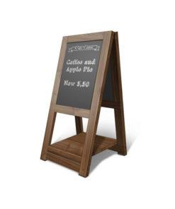 Cafe menu standing board